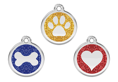 Glitter ID Tags for Dogs and Cats