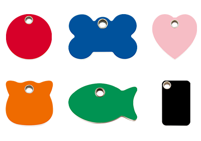 Plastic Pet ID Tags