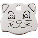 Stainless Steel Cat Face ID Tag 02 CF ZZ_01