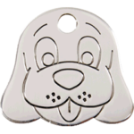 Stainless Steel Dog Face ID Tag 02 DF ZZ