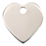 Stainless Steel Heart ID Tag 02 HT ZZ