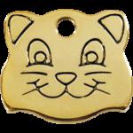 Brass Cat Face ID Tag 03 CF ZZ