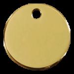 Brass Circle ID Tag 03 CL ZZ
