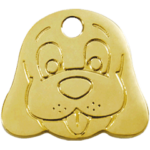 Brass Dog Face ID Tag 03 DF ZZ