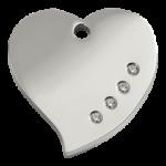 Diamante Heart Pet Tag 08 HT ZZ