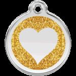 Glitter Heart Pet Tag 0X HT