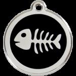 Enamel Fish Bone Tag SK