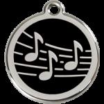 Enamel Music Note Tag MU